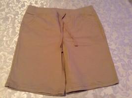 Justice shorts uniform Size 14 Slim long khaki shorts bermuda tan beige New Girl - $13.99