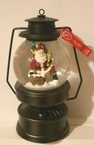 Martha Stewart LIGHT-UP Lantern SANTA Snow Globe 8in WE WISH U MERRY CHR... - £24.07 GBP