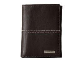 NEW STEVE MADDEN MEN'S PREMIUM LEATHER TRIFOLD ID WALLET BROWN N80030/01