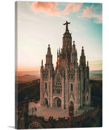ARTCANVAS Cathedral in Barcelona Spain - $43.99+