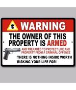 "2 Lot Gun Pistol Warning Home Business Security Sign Aluminum 8"" x 12"" New - $22.76"