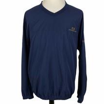 FootJoy V-Neck Pullover Golf Windbreaker Jacket XL Navy Blue Gold Stonebridge - $34.55
