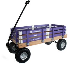 HEAVY DUTY LOADMASTER PURPLE WAGON - Beach Garden Utility Cart AMISH MAD... - $287.07