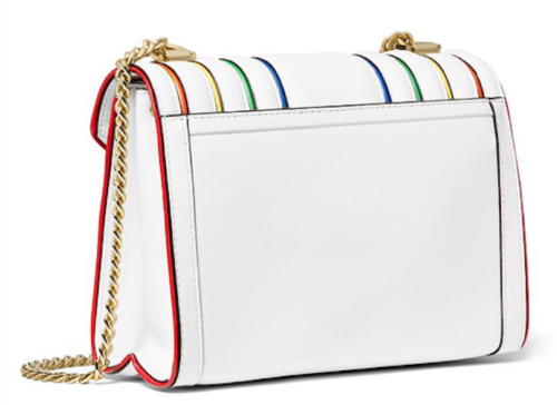 Michael Kors Whitney Large Rainbow Convertible Shoulder Bag Optic White/Gold