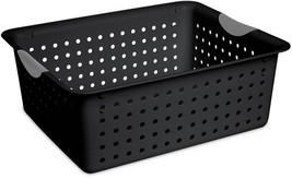Sterilite Medium Black Ultra Basket Set, Case Of 6 Plastic Storage Carry... - $27.00