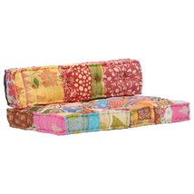 Multicolor Sofa Pillow Cushion Patchwork Fabric - $506.93