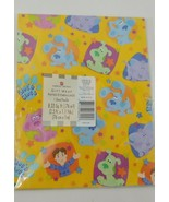 American Greetings Blues Clues Joe one sheet gift wrap wrapping paper 8.... - $4.94