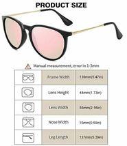 WOWSUN Polarized Sunglasses for Women Vintage Retro Round Mirrored Lens image 3