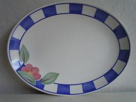 Johnson Brothers Hopscotch Blue Oval Platter - $8.67