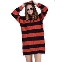 Striped Hooded Women's Sweater Dress - $81.98