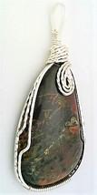 Pilbara Jasper Silver Copper Wire Wrap Pendant 10 - $27.96