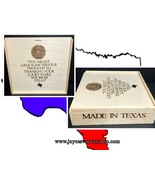 """MADE IN TEXAS Wood Box 11"""" x 11"""" x 2"""" Sliding Top Thank Your LUCKY Stars - $21.99"""