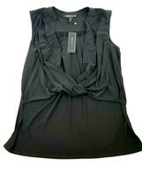 New Bcbg Maxazria Women Blouse YDM1242720-001 052019 Black L Msrp - $43.88