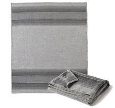 Super Soft Baby Alpaca Throw Blanket Gray Striped - ₹13,534.33 INR