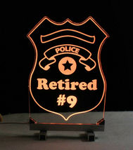 Personalized Police Badge LED Sign - Policeman image 6