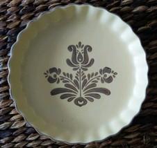 """Pfaltzgraff - """"VILLAGE""""  Pie plate/Quiche Mold Brown Pattern Replacement Piece  - $14.85"""