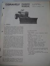"Gravely Tractors original owner's manual 1975 48"" snowdozer 19763E1 (short 6pg) - $7.38"