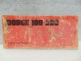 Dodge 100 200 300 Pickup Truck 1969 Owners Manual 16314 - $18.76