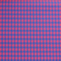 """Vintage Fabric 1970's 1960's Red Blue Design Stretch Polyester 62""""x120"""" - $49.18"""