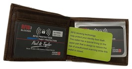 Paul & Taylor Hunter Buffalo Leather Bifold 51305 - $26.95