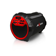 Axess Red Portable Indoor/ Outdoor Bluetooth Cylinder 2.1 Speaker with 6... - $130.44 CAD