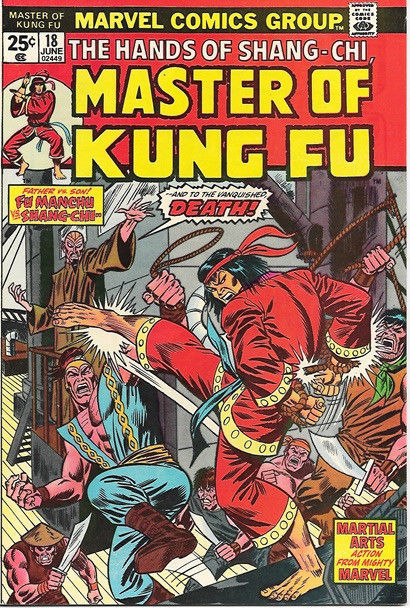 Master of Kung Fu Comic Book #18, Marvel Comics 1974 FINE-