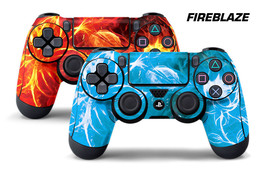 Dual Skin Sticker Wraps 2 Pack PS4 Playstation 4 Remote Controller Decals FIREBZ - $9.85