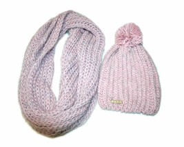 bebe 2 Piece Cold Weather Set - Hat and Infinity Loop Scarf, Color: Blush/Pink - $32.99