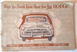 1951 1952 Dodge Owners Manual D-41 and 42 ORIGINAL - $23.76