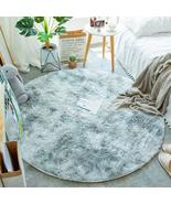 Fluffy Round Rug Carpets for Living Room Decor Faux Fur Rugs Kids Room L... - $19.99+
