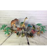 Huge Mixed Lot of 18 Dinosaurs Trees Action Figures Toys Vinyl Rubber 5i... - $39.59