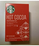 Starbucks Peppermint Hot Cocoa Mix, 8 Count.  Exp. 05/21/22. - $18.37