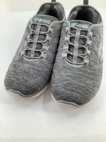 Skechers 9.5 Shoes Air Cooled Memory Foam SN23315 Grey Athletic image 7