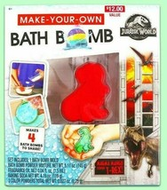 Jurassic World Make Your Own Bath Bomb Makes 4 Bath Bombs T-Rex NEW in BOX