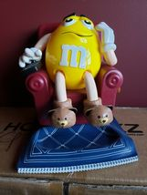M&M's Yellow La-Zy Boy Chair Recliner Candy Dispenser out of the box - $28.00