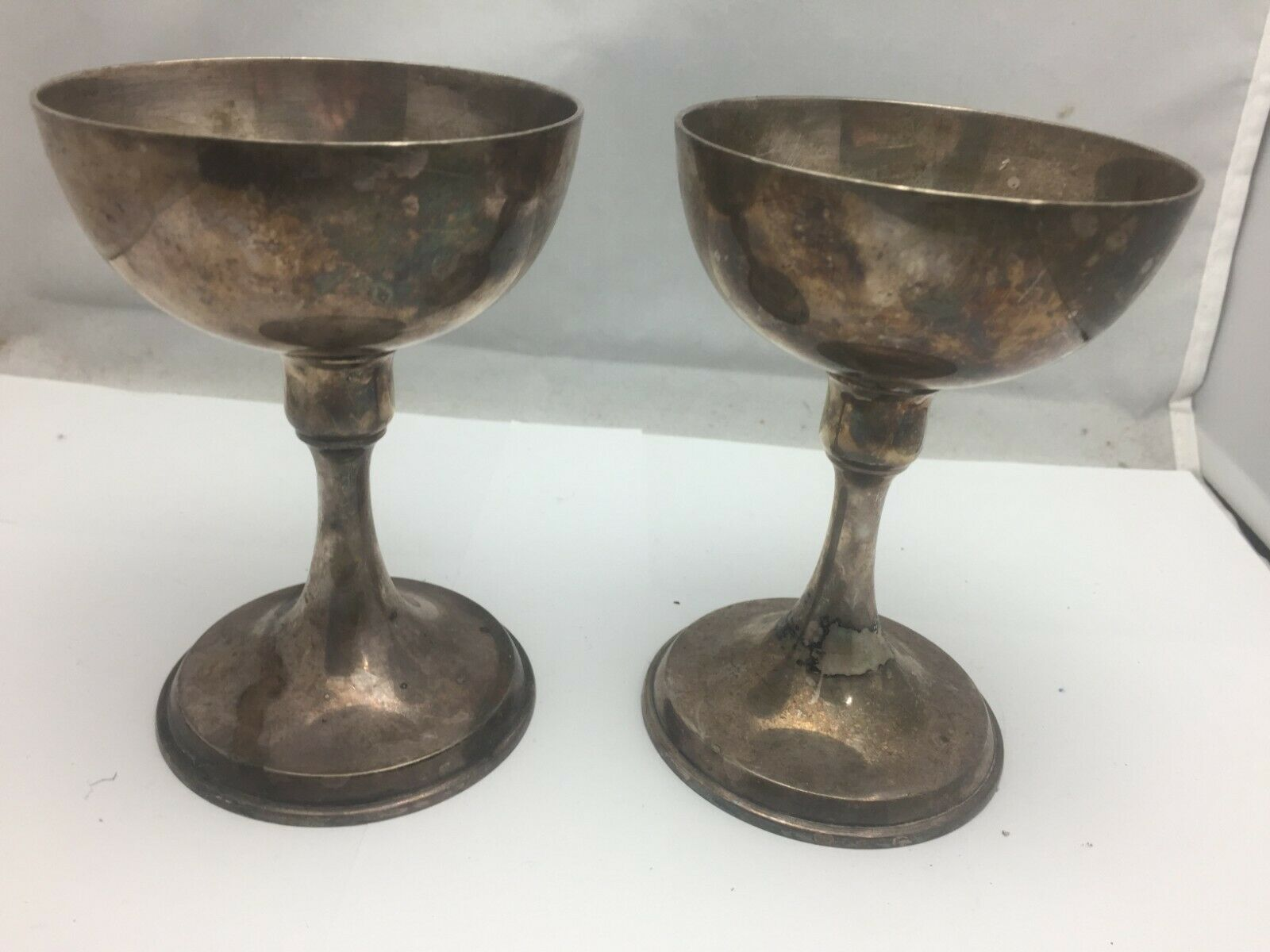 Primary image for Vintage Art Krupp Berndorf candlestick set of 2