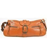 Eddie Bauer Brown Distressed Leather Shoulder Bag Purse Adjustable Strap... - $29.69