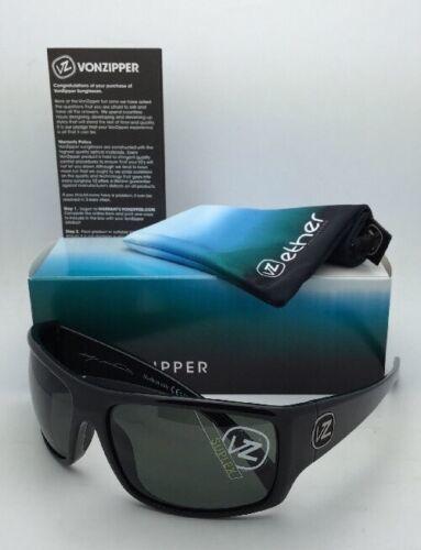 New ETHER Collection VONZIPPER Sunglasses SUPLEX Shiny Black Frame w/Grey Lenses image 12