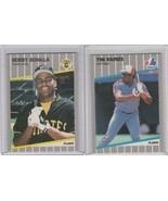 1989 Fleer Glossy Tim Raines Bobby Bonilla Pirates Expos - $2.90