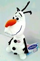 "Disney Frozen Talking Olaf Snowman 9"" Tall Bean Plush with Included Batt... - $18.73"