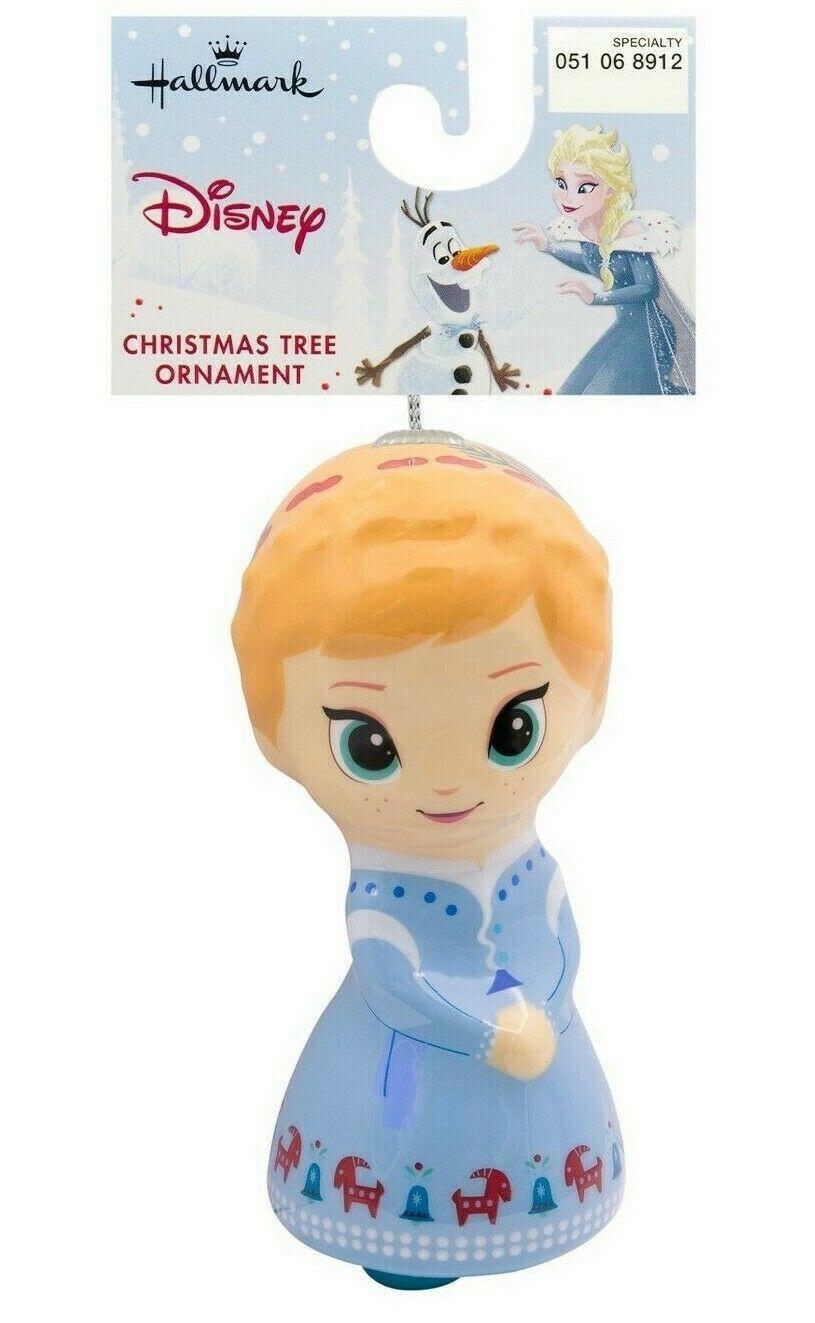 Hallmark Disney Frozen Anna Decoupage Christmas Shatterproof Ornament New w Tag