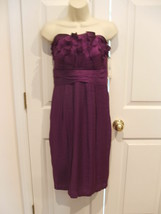 NWT $169  SANGRIA Strapless Pleated Ruched Bodice Dress BUILT IN BRA SIZE 8 - $51.97