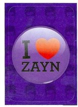 I Love Zayn Malik sticker trading card (One Direction 1D) 2013 Panini #10 - $4.00