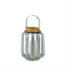 Small Industrial Inspired Galvanized Candle Lantern - $13.61