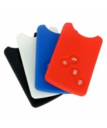 Car Key Cover 4 Button Scenic Silicone Clio Logan Megane Card Protector ... - $5.59