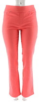 Denim & Co How Smooth Straight Leg Jeans Warm Coral 28W NEW A239619 - $21.76