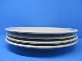 """Crate And Barrel Gallery Parchment Cream Rolled Rim 11"""" Dinner Plates Se... - $45.62"""