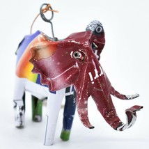 Handcrafted Recycled Aluminum Tin Can Art Elephant Ornament Made in Zimbabwe