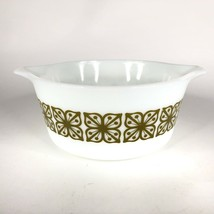 Pyrex Verde Square Green Flower Casserole Dish 474 B Covered Baking 1.5 ... - $14.80