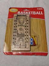 Basketball PEG GAME Travel or Home - Toy Wooden Court Brand New - $6.95